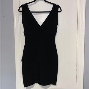 Herve Leger Classic Black Bandage Dress
